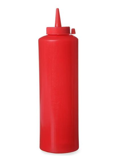 Dyspenser pojemnik do sosów zimnych 0,7l. czerwony - Hendi 557914