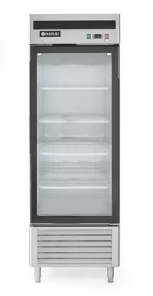 Szafa chłodnicza lodówka przeszklona Kitchen Line 1-drzwiowa 610L - Hendi 233160