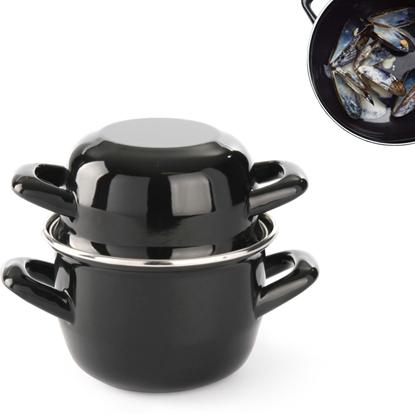 Garnek do sosów z pokrywką 0,8 l śr. 12 cm - Hendi 625606
