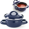 Garnek do zup i sosów z pokrywką niebieski 0,4 l - Hendi 625804