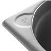 Pojemnik GN 2/3 stalowy Kitchen Line wys. 100 mm - Hendi 806234