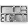 Pojemnik GN 2/3 stalowy Kitchen Line wys. 200 mm - Hendi 806258