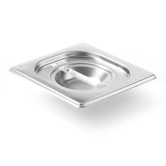 Pokrywka stalowa do pojemnika GN Kitchen Line GN 1/6 - Hendi 806869