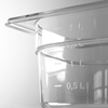 Pojemnik GN przeźroczysty z poliwęglanu GN 1/2 wys. 200 mm - Hendi 861400