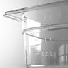 Pojemnik GN przeźroczysty z poliwęglanu GN 1/4 wys. 200 mm - Hendi 861608