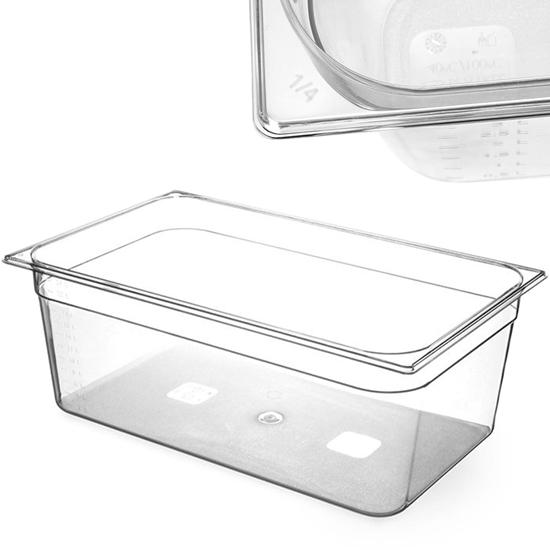 Pojemnik spożywczy z tritanu BPA free GN 1/1 wys. 200 mm - Hendi 869208