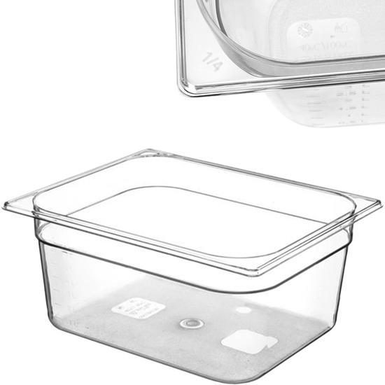 Pojemnik spożywczy z tritanu BPA free GN 1/2 wys. 200 mm - Hendi 869307