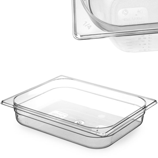 Pojemnik spożywczy z tritanu BPA free GN 1/2 wys. 65 mm - Hendi 869338