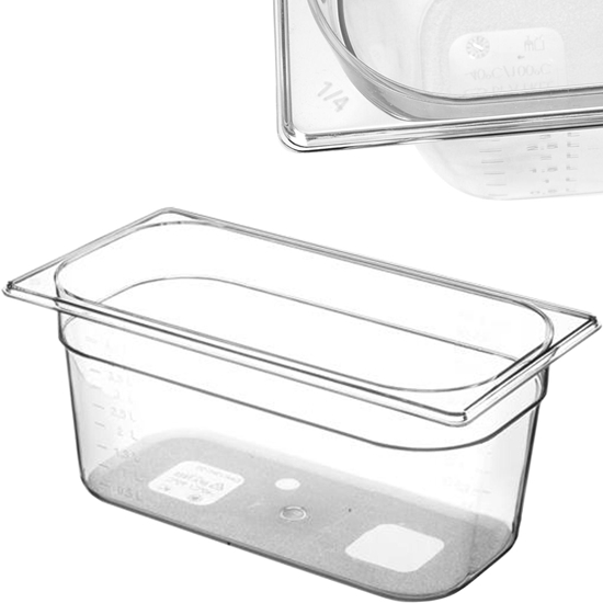 Pojemnik spożywczy z tritanu BPA free GN 1/3 wys. 100 mm - Hendi 869420