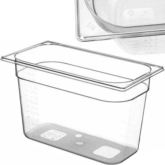 Pojemnik spożywczy z tritanu BPA free GN 1/4 wys. 100 mm - Hendi 869529