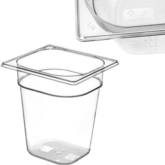 Pojemnik spożywczy z tritanu BPA free GN 1/6 wys. 200 mm - Hendi 869604
