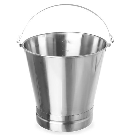 Wiadro gastronomiczne do kuchni stalowe z pierścieniem - Hendi 516706