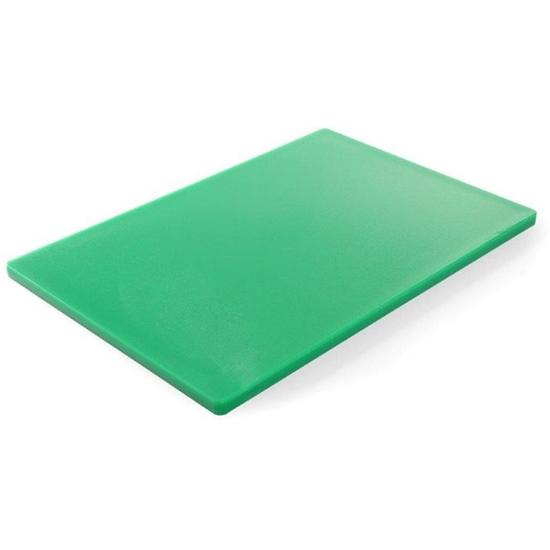 Deska do krojenia HACCP do warzyw 450x300mm zielona - Hendi 825549