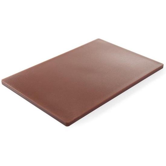 Deska do krojenia HACCP do mięsa i wędlin 450x300mm brązowa - Hendi 825556