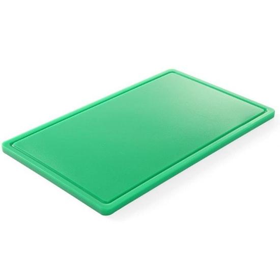 Deska do krojenia HACCP do warzyw GN 1/1 zielona - Hendi 826034