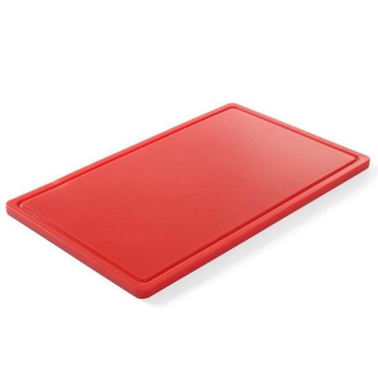Deska do krojenia HACCP do mięsa GN 1/2 czerwona - Hendi 826119