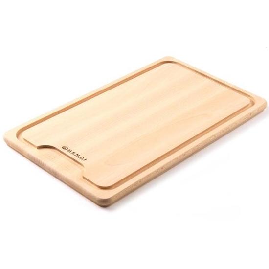 Deska do krojenia z wycięciem z drewna bukowego - Hendi 505205