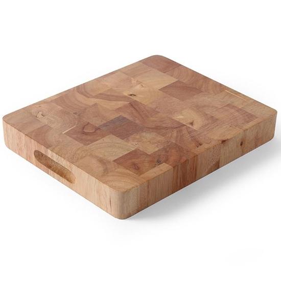Deska do krojenia z klejonego drewna GN 1/1 - Hendi 506905