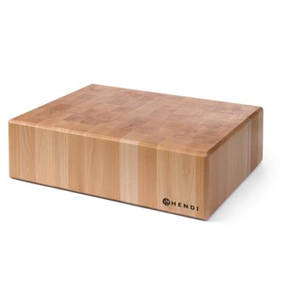 Drewniany kloc masarski z drewna bukowego wys. 150 mm - Hendi 505632