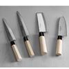 Nóż japoński SANTOKU z drewnianą rączką 165 mm- Hendi 845035