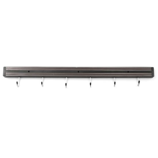 Listwa magnetyczna na noże z haczykami dł. 600 mm - Hendi 820407