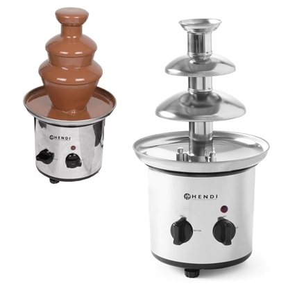 Czekoladowa fontanna do czekoladowego fondue stalowa 110W - Hendi 274101