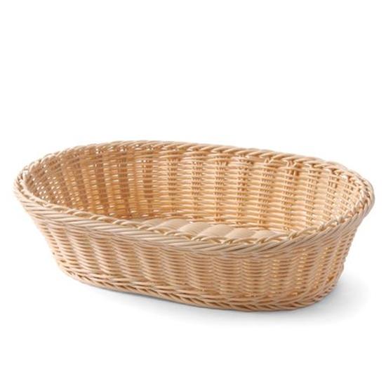 Koszyk do pieczywa z polirattanu owalny - Hendi 561003