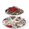 Patery półmiski ekspozycyjne stalowe z podstawą do owoców morza - Hendi 480519