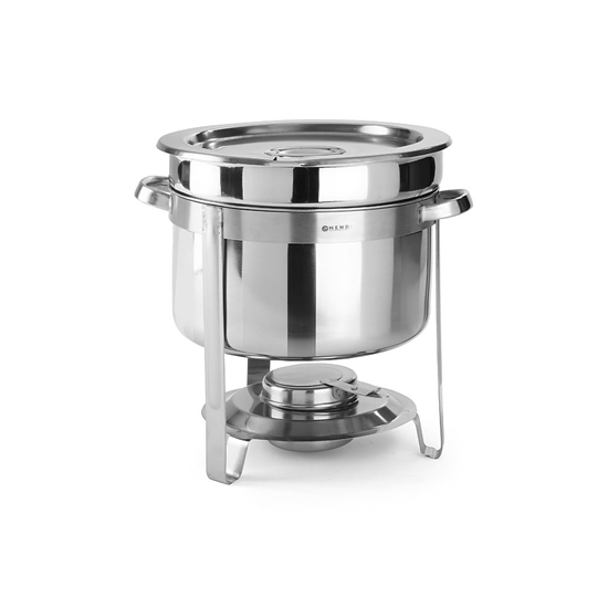 Podgrzewacz na pastę stołowy do zupy stalowy 10 l- Hendi 472507