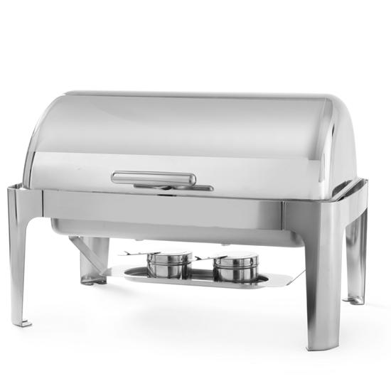 Podgrzewacz do potraw na pastę RollTop GN1/1 65mm stalowy - Hendi 470305