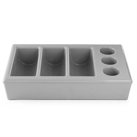 Pojemnik na sztućce z podstawą GN1/1 6 komór - Hendi 552261