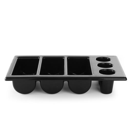 Pojemnik na sztućce GN1/1 6-częściowy czarny - Hendi 552360