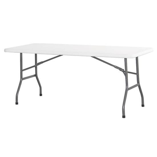 Stół cateringowy składany biały 180x74cm do 150kg - Hendi 810897