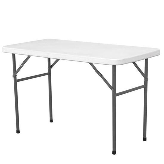 Stół cateringowy składany biały 122x61cm do 130kg - Hendi 810934