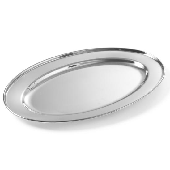 Stalowy półmisek do mięs i wędlin owalny dł. 35 cm - Hendi  404300