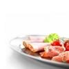 Stalowy półmisek do mięs i wędlin owalny dł. 65 cm - Hendi  404904
