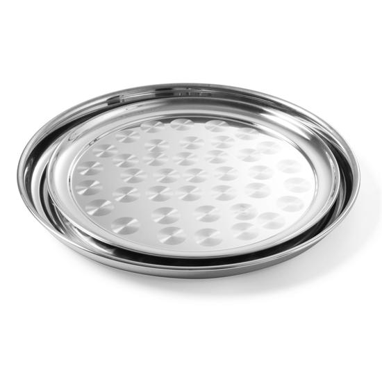 Taca bankietowa stalowa okrągła śr. 30cm - Hendi 480205