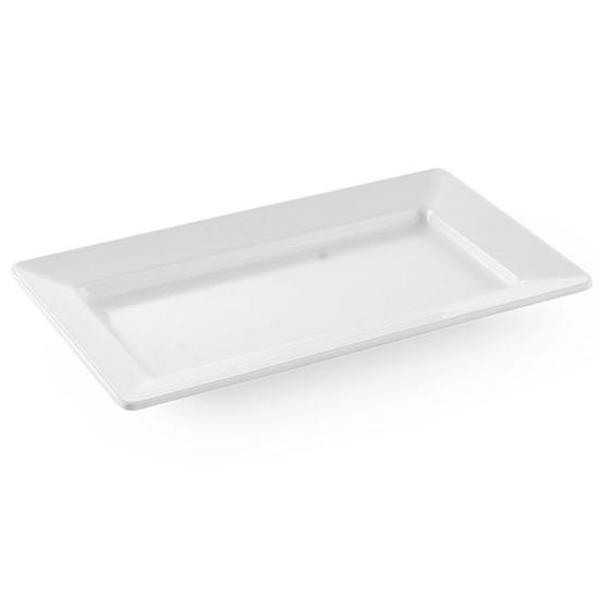 Półmisek z melaminy prostokątny 36x20.5cm wys. 3.8cm biały - Hendi 561508