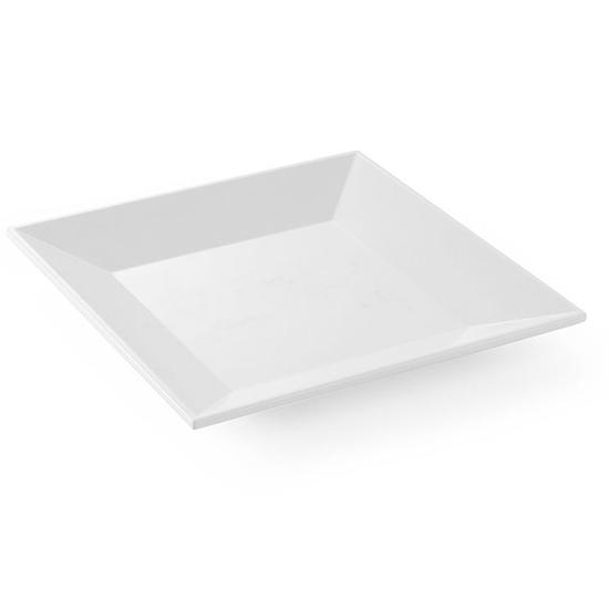 Półmisek z melaminy kwadratowy 40.5x40.5cm wys. 5cm biały - Hendi 561553