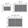 Foremki silikonowe nieprzywierające do pieczenia do 260C TORTALETTE 176x300mm GN1/3 - Hendi 676509