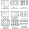 Foremki silikonowe nieprzywierające do pieczenia do 260C MINI-CAKE 176x300mm GN1/3 - Hendi 677001