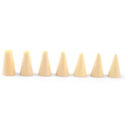 Końcówki do rożków rękawów cukierniczych do dekorowania PROSTE 4-16mm zestaw 7szt. - Hendi 551011
