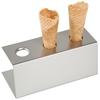 Stojak do lodów ze stali nierdzewnej na 3 wafle - Hendi 755730