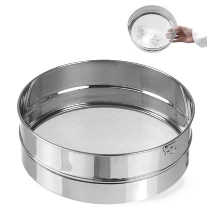 Sito cukiernicze gęste do przesiewania cukru pudru śr. 247mm stalowe - Hendi 637791