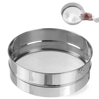 Sito cukiernicze gęste do przesiewania cukru pudru śr. 407mm stalowe - Hendi 637821