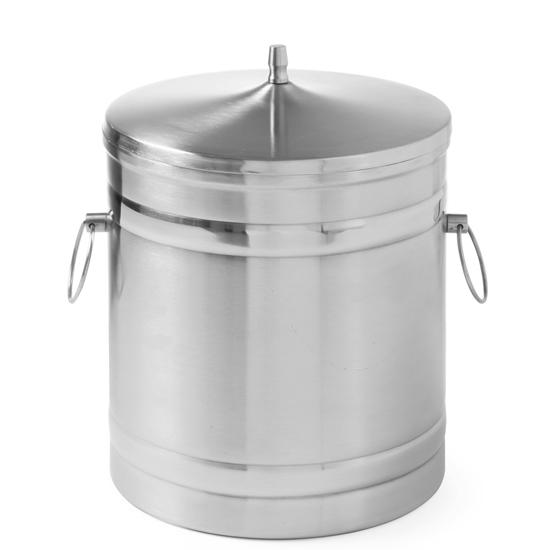 Pojemnik do lodu stalowy termiczny podwójne ścianki 5L - Hendi 594704