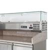 Stół chłodniczy do pizzy z nadstawą chłodniczą blat granitowy szer 140cm - Hendi 232033