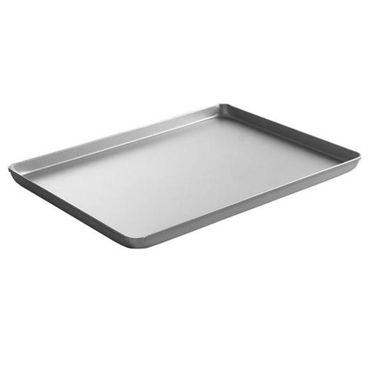Taca cukiernicza piekarnicza ekspozycyjna z aluminium 400x300x20mm srebrna - Hendi 808504