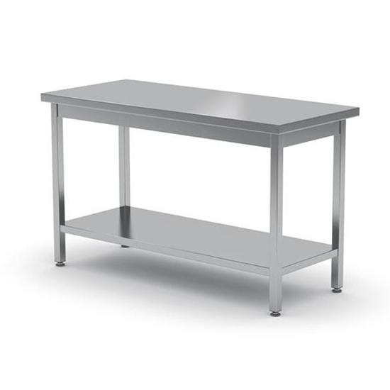 Stół roboczy centralny z półką - skręcany 1000 x 600cm Hendi 811511