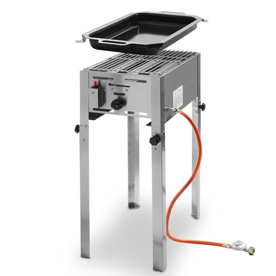 Grill gazowy z patelnią Grill Master Mini 290x480mm 5.8kW- Hendi 154700